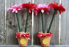 Mommy's Kitchen - Flower Pot Pens for Mother's Day & Teacher Appreciation {Crafty Kitchen}