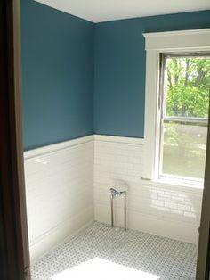 Catalina coast in  victorian bathroom - traditional - boston - by Custom Carpentry