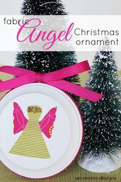 DIY Fabric Angel Christmas Ornament. Use up those fabric scraps.