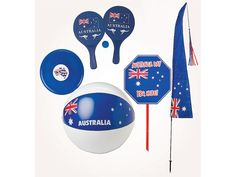 Beach Ball Or Flying Disc, Lawn Sign, Paddle & Ball Set Or Banner Flag