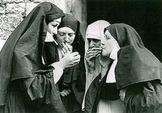 Sneaking a Smoke... even the nuns do it ;)