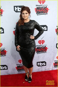 Meghan Trainor Takes Her Dad to the iHeartRadio Music Awards 2016 : Photo #951033. Meghan Trainor shines on the carpet at the 2016 iHeartRadio Music Awards held at The Forum on Sunday (April 3) in Inglewood, Calif.    The 22-year-old singer, who…