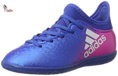 adidas X 16.3 In J, Chaussures de Football Mixte Enfant, Bleu (Blue/Footwear White/Shock Pink), 30 EU - Chaussures adidas (*Partner-Link)