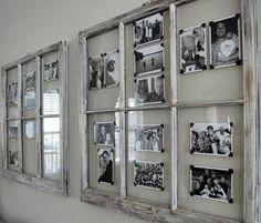 DIY déco - 55 idées pour réutiliser le cadre d'une vieille fenêtre                                                                                                                                                                                 Plus