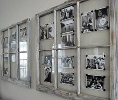 Old Window frames - oohhh I like the photo corners!