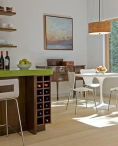 Modern ideas for wine storage add style and organization to your kitchen and dining room decorating