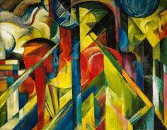 Franz Marc - Stables, 1913 at Guggenheim Museum New York
