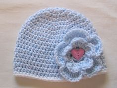 Crochet Baby Girl Holiday Flower Hat  Warm by TalicakeCrochet