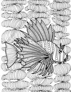 zentangle fish adult coloring page adult by TheColoringAddict