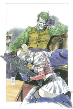 The Joker and Harley Quinn by Clay Mann