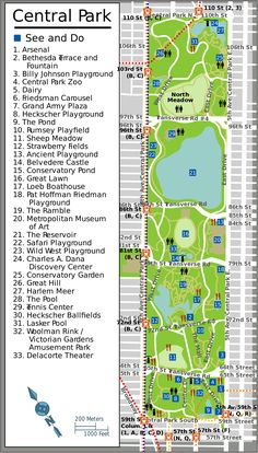 Download a printable tourist map of New Yorks Manhattan top sights ...