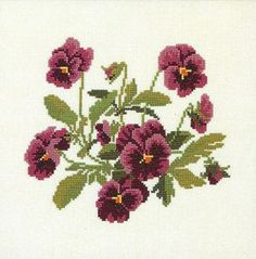 Shop online for Purple Pansies Cross Stitch Kit at sewandso.co.uk. Browse our great range of cross stitch and needlecraft products, in stock, with great prices and fast delivery.