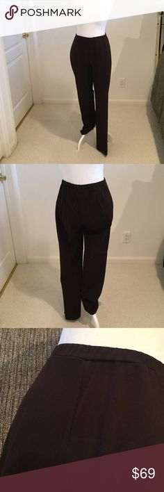 NBW Chicos size 1 (8/10) chocolate brown pants. NBW Chico's size 1 (8/10) chocolate brown straight leg pants can be worn all your round Chico's Pants Straight Leg