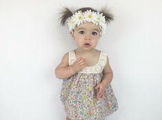White daisy flower crown / baby flower crown / adult flower crown / flower power / hippie chic /trendy / baby fashion / flower girl