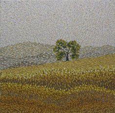 "Saatchi Online Artist Jeff Nabors; Painting, ""California"" #art  30""x30""  Very Van Gogh-ish! Lovely"