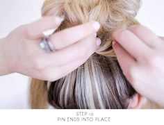 sitting in our tree: DIY - messy bun for long hair Bun Hairstyles For Long Hair, Cute Hairstyles, Long I, Updos, My Hair, Quick Updo, Hair Makeup, Hair Cuts, Messy Buns
