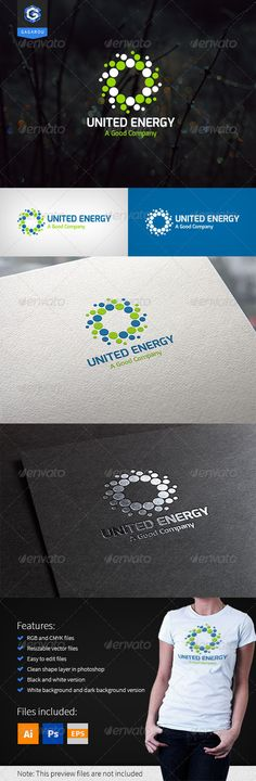 United Energy logo — Photoshop PSD #technology #simple • Available here → https://graphicriver.net/item/united-energy-logo/8315387?ref=pxcr