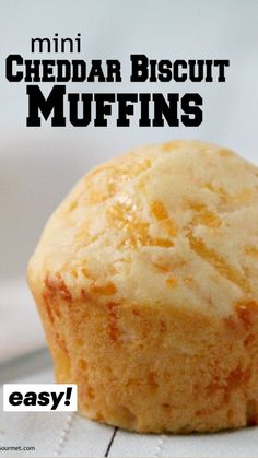 Cooking Bread, Cooking Recipes, Bread Recipes, Easy Drop Biscuits, Muffin Pan Recipes, Simple Muffin Recipe, Simple Biscuit Recipe, Cheddar Biscuits, Vanilla Recipes