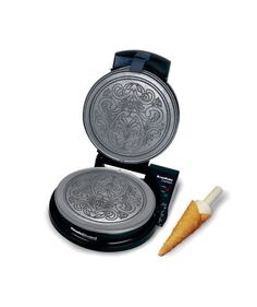 Chef'sChoice 839 KrumKake Express Krumkake Cookie Maker with Color Select Quick Baking Instant Temperature Recovery Fast Bake Easy to Clean with Overflow Channel Includes Cone Roller, Black Waffle Cone Maker, Waffle Cookies, Chef's Choice, Weight Loss Meals, Perfect Cookie, Specialty Appliances, Waffle Iron, Kitchen Gadgets, Kitchen Appliances