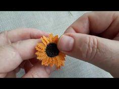 Ayçiçeği#iğne oyası #şahane modeli#kurs hocası - YouTube Lace Flowers, Crochet Flowers, Neon Bracelets, Leather Thread, Crochet Flower Tutorial, Brazilian Embroidery, Needle Lace, Knitted Shawls, Knitting Socks