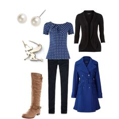 Outfit for winter engagement photos...just made it on polyvore.cotm. whatya think?