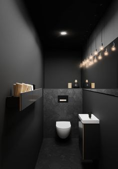 Toiletruimte met toilet en badkameubel van Sphinx # b… Toilet room with toilet and bathroom furniture from Sphinx # bathroom furniture Bad Inspiration, Bathroom Inspiration, Bathroom Ideas, Bathroom Designs, Shower Ideas, Wc Design, Design Case, House Design, Modern Toilet Design