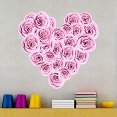Wall Stickers: Heart of roses Day Valentine's Working day is taken into account considered one of my prefer Roses Valentines Day, Goodie Bags, Hot Air Balloon, Craft Stores, Wall Stickers, Decoration, Balloons, Essie, Presents