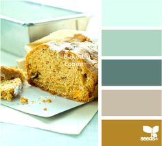 I'd paint my kitchen cabinets one of these teal colors :o) - baked tones