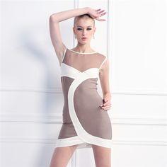 Bodycon Kleid mit Streifen
