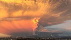 Explosión volcán cal
