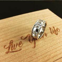 "Polubienia: 268, komentarze: 4 – Greg Skullptor Wojdak (@customrings.pl) na Instagramie: ""A #14k #white #gold #skull #wedding #ring with #diamond #eyes . I was #always wondering on why all…"""