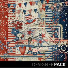 Stars and Stripes by Lindsay Jane  @MyMemories.com #MyMemories