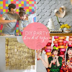 Get Your Party On: 10 DIY Backdrops for parties, weddings and celebrations! Diy Backdrop, Photo Booth Backdrop, White Backdrop, Party Fotos, Home Studio Photography, Photography Backdrops, Wedding Photography, Partys, Backdrops For Parties