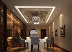 home interior with modern dining room ceiling decoration ideas model Dining Room Ceiling Design, New Ceiling Design, Modern Ceiling, Ceiling Lights Uk, Dining Room Ceiling Lights, Ceiling Decor, Ceiling Lighting, Gypsum Ceiling, Interior Lighting
