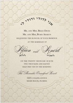 Lilian + Leonard – Wedding Invitation                                                                                                                                                     More