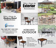 Ven y descubre nuestra nueva colección de #OUTDOORFURNITURE. Conoce nuestros nuevos productos para áreas de exterior que podrás usar para tus espacios al aire libre. ¡Ven y visítanos! Contáctanos a los teléfonos: 2440-1620/2440-1607
