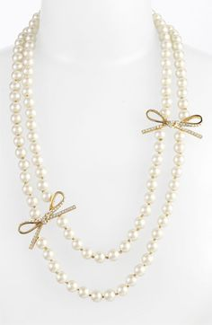 Kate Spade necklace #Pearls #Bows