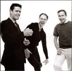 John Cage, Merce Cunningham, and Robert Rauschenberg photographed in 1960 by Richard Avedon