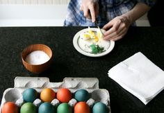 brown eggs with regular food coloring
