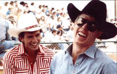 Lane Frost & Tuff Hedeman Greatest Bullriders of all time. Rodeo Cowboys, Hot Cowboys, Real Cowboys, July In Cheyenne, Rodeo Rider, Western Photography, Animal Photography, Cowboys And Angels, Rodeo Events