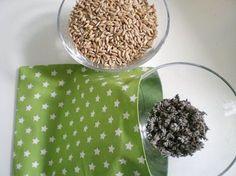 DIY-Anleitung: Dinkel-Lavendel-Kissen nähen via DaWanda.com Du brauchst Dinkel 350g Lavendel 100g Stoff (zweimal 25cm x 25cm) Stecknadeln Nähmaschine Schere Bügeleisen Garn