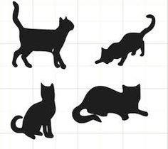 Cats Afraid Of Cucumbers Info: 9409602788 Quilting Templates, Applique Templates, Cat Template, Cat Clipart, Cats With Big Eyes, Cat Tat, Cat Quilt, Animal Quilts, Cat Silhouette