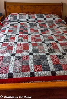 Queen Bed Quilt Sewing with Mama by QuiltsontheCoast on Etsy