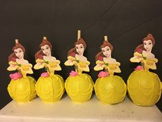 12 chocolate beauty and the beast BELLE by Chevonscouturesweets