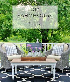 My $10.97 Farmhouse Table Make-over