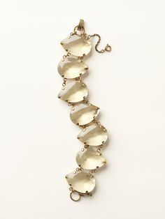 Large Crystal Pear Line Bracelet in Spring Rain - Sorrelli