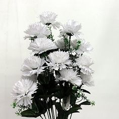 "Large 22"" Carnation Silk Flower Bunch (19 Flowers) (White) AtoZ Online LLC http://www.amazon.com/dp/B00UIEGA70/ref=cm_sw_r_pi_dp_XC2.ub1BSGZKN"