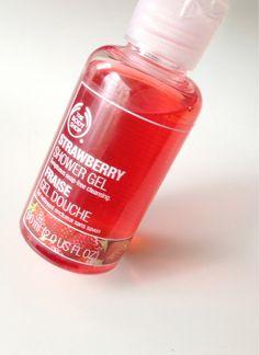 the bodyshop strawberry showergel, my favourite!