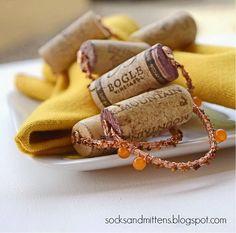 Wine Cork Napkin Rings.