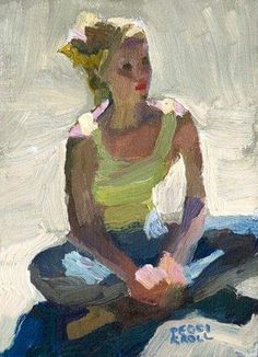 Art by Peggy Kroll Roberts Painting People, Figure Painting, Figure Drawing, Painting & Drawing, Figurative Kunst, Michelangelo, Portrait Art, Beautiful Paintings, Painting Inspiration